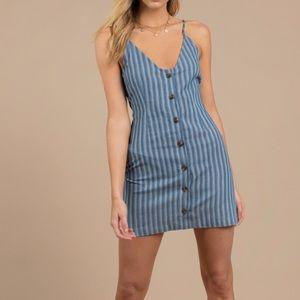 Tobi Striped Button Up Dress